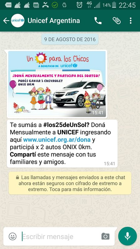 UNICEF, Argentina
